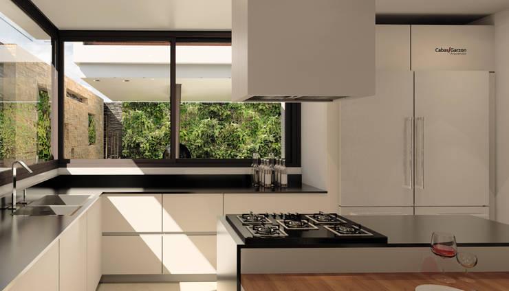 CASA T C: Cocinas de estilo  por Cabas/Garzon Arquitectos