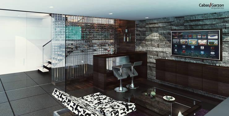 CASAS VILLA CAMPESTRE: Salas de estilo  por Cabas/Garzon Arquitectos