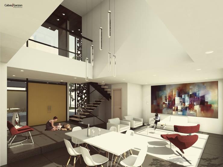 CASAS VILLA CAMPESTRE: Comedores de estilo  por Cabas/Garzon Arquitectos