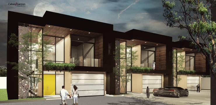CASAS VILLA CAMPESTRE: Casas de estilo moderno por Cabas/Garzon Arquitectos