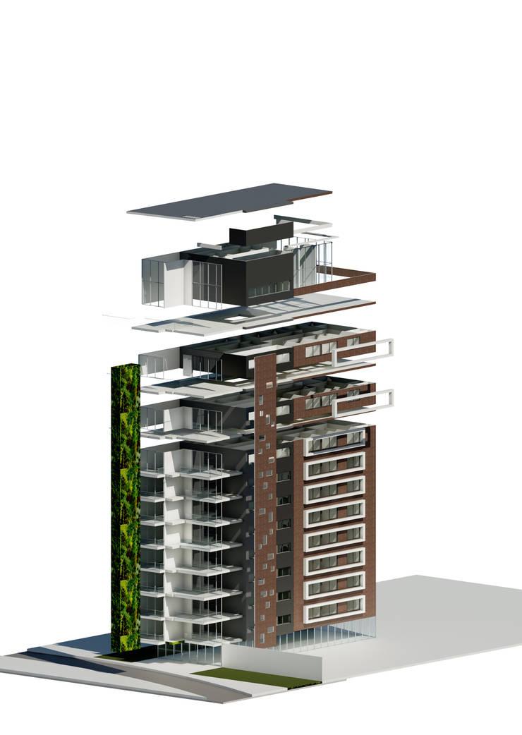 TORRE BOJANINI  25-07-2014:  de estilo  por Cabas/Garzon Arquitectos, Moderno