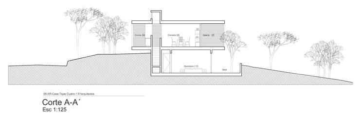 Corte Transversal:  de estilo  por 1.61 Arquitectos