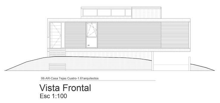 Fachada Sobre Calle :  de estilo  por 1.61 Arquitectos