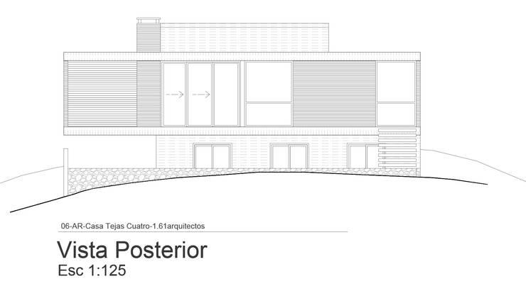 Fachada Posterior:  de estilo  por 1.61 Arquitectos