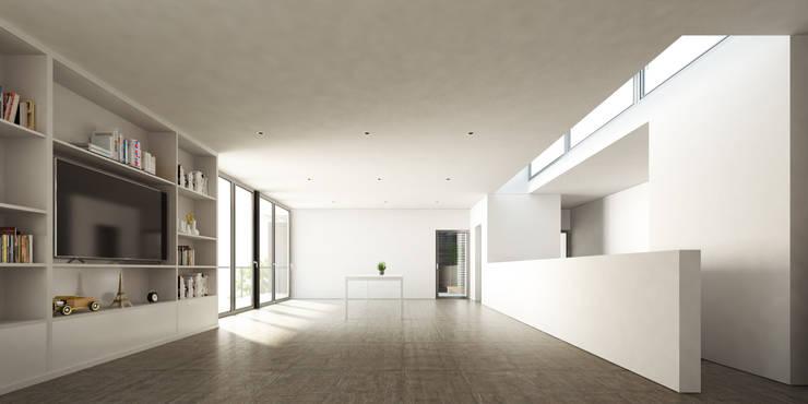 Interior Planta Alta, Estar / Comedor: Comedores de estilo  por 1.61 Arquitectos