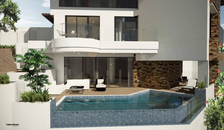 VIVIENDA CAUJARAL –  D S:  de estilo  por Cabas/Garzon Arquitectos