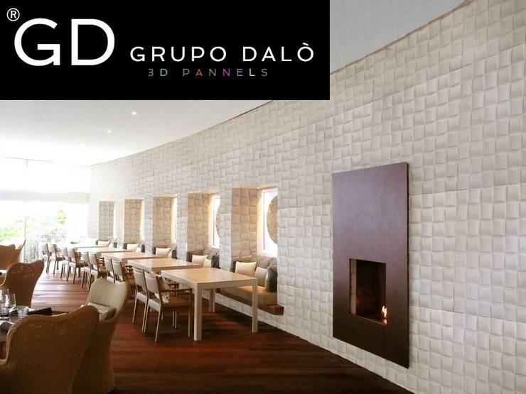 """PANEL DECORATIVO. DISEÑO """"ENTRAMADO"""": Paredes y pisos de estilo  por GRUPO DALÒ    PANELES DECORATIVOS EN 3D"""