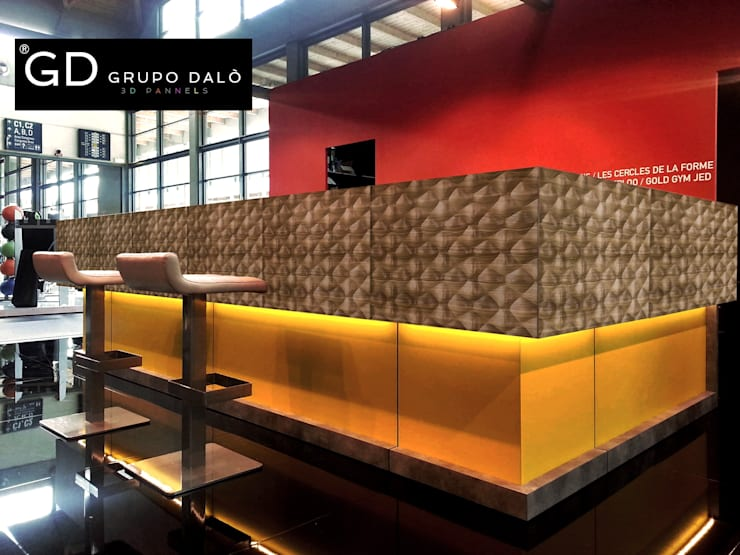"PANEL DECORATIVO. MODELO ""SHELL"": Paredes y pisos de estilo  por GRUPO DALÒ    PANELES DECORATIVOS EN 3D"