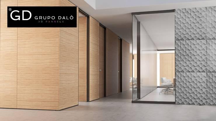 "PANEL DECORATIVO . MODELO ""SHELL"": Paredes y pisos de estilo  por GRUPO DALÒ    PANELES DECORATIVOS EN 3D"