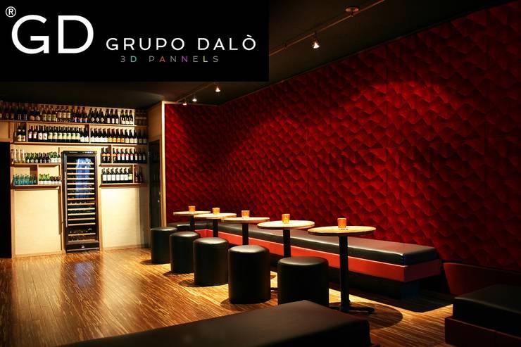"PANEL DECORATIVO EN 3D . MODELO ""SHELL"": Paredes y pisos de estilo  por GRUPO DALÒ    PANELES DECORATIVOS EN 3D"