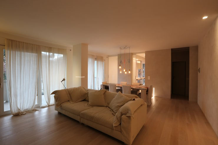 minimalistic Living room by RO|a_