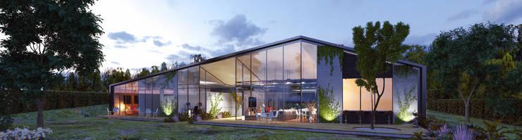 Casa Santa Elena: Casas de estilo  por O11ceStudio