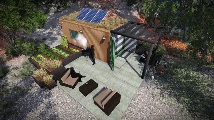 Casas em contentor Offgrid de 20´ft:   por BOXCODE