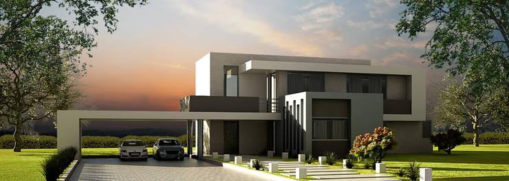 Casa Prado Largo: Casas de estilo moderno por O11ceStudio