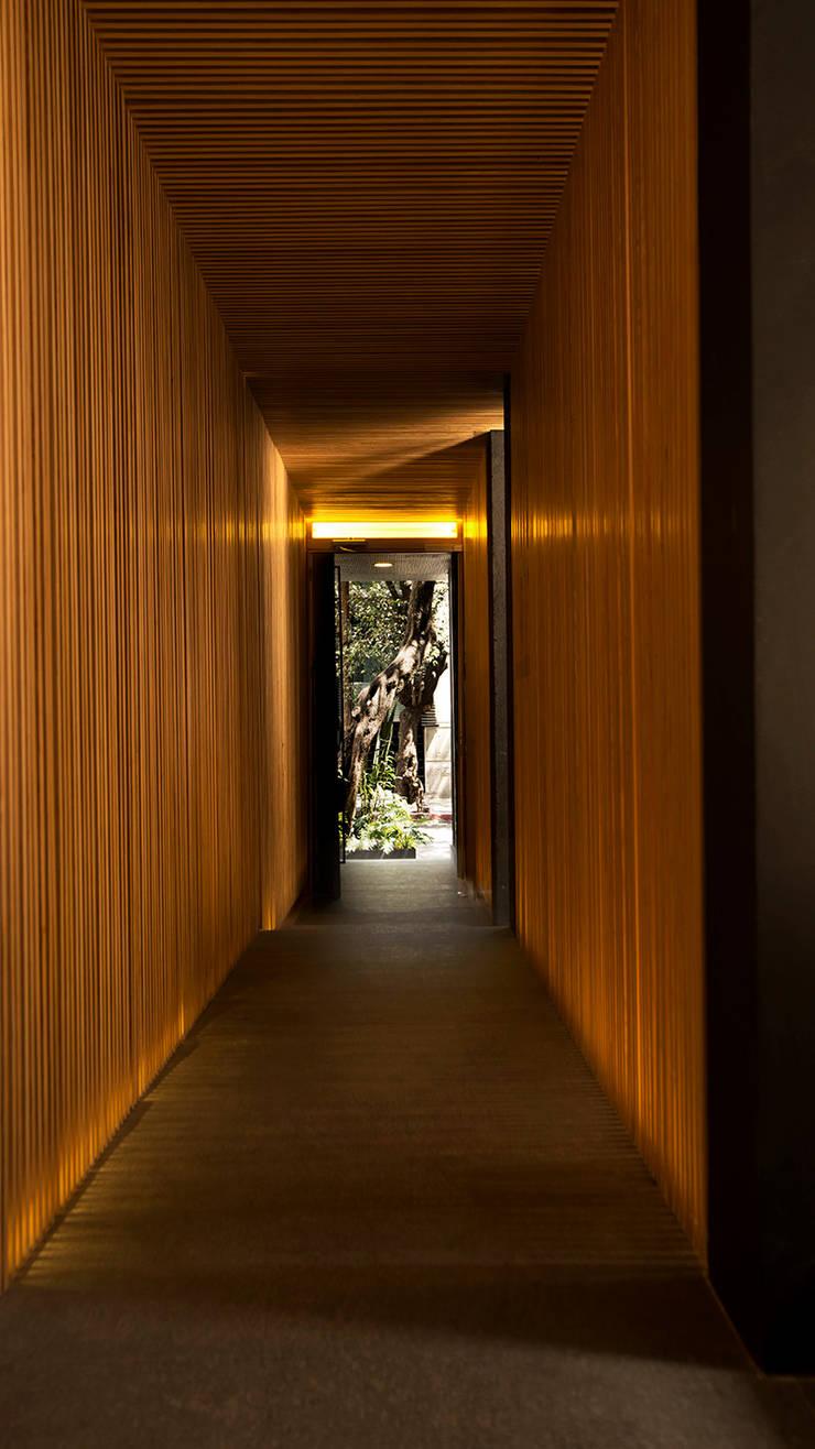 Acceso Peatonal: Pasillos y recibidores de estilo  por Wolff Arquitectura