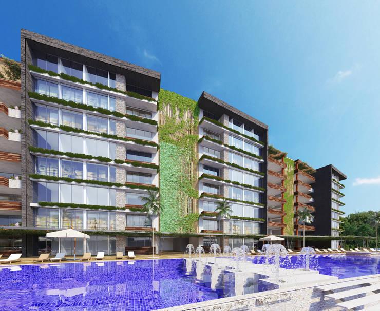 Condominio Guayacanes 3: Casas de estilo moderno por O11ceStudio