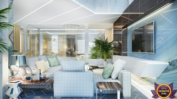 Fashion trends in interior of Katrina Antonovich:  Living room by Luxury Antonovich Design, Modern