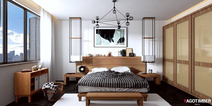 Bedroom 1:  Bedroom by Yagotimber.com
