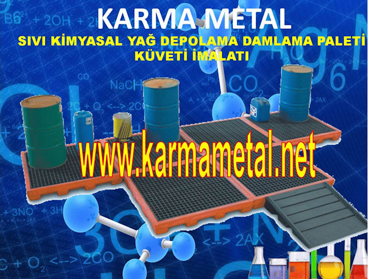 KARMA METAL – KARMA METAL-Varil Yağ Sıvı Kimyasal Toplama Küveti:  tarz , Endüstriyel