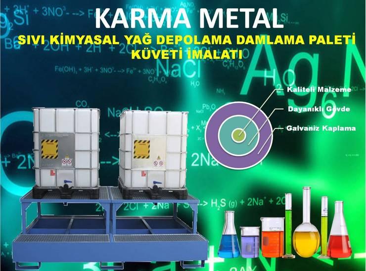 KARMA METAL – KARMA METAL-Varil Yağ Sıvı Kimyasal Toplama Küveti:  tarz