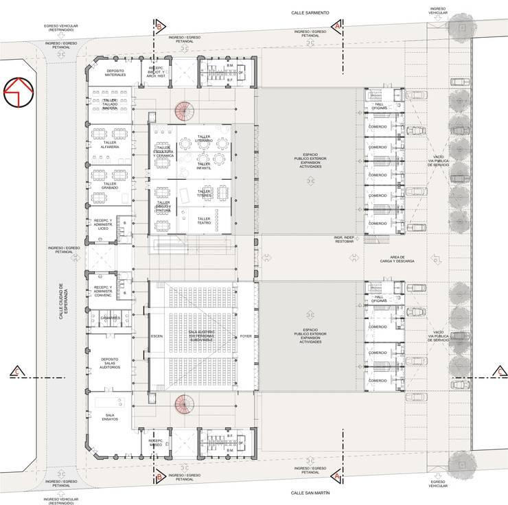 Exhibition centres by Mauricio Morra Arquitectos