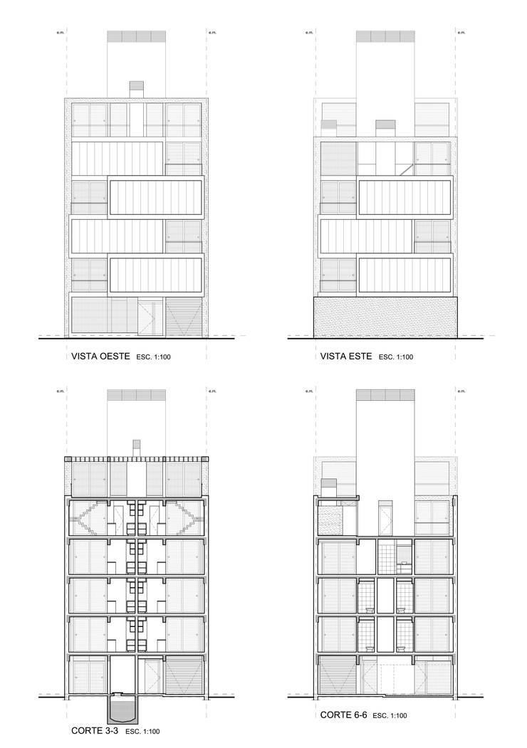 Edificio Irigoyen: Casas de estilo  por Mauricio Morra Arquitectos