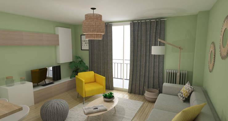 غرفة المعيشة تنفيذ ML architecture d'intérieur et décoration