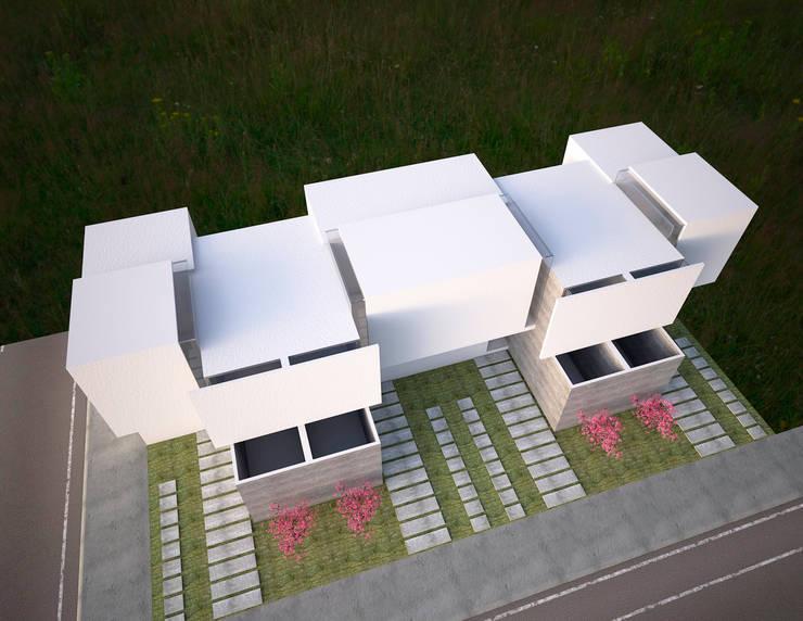 Vivienda minimalista, proyecto para Maruz, casas para venta en infonavit : Casas de estilo  por Element+1 taller de arquitectura