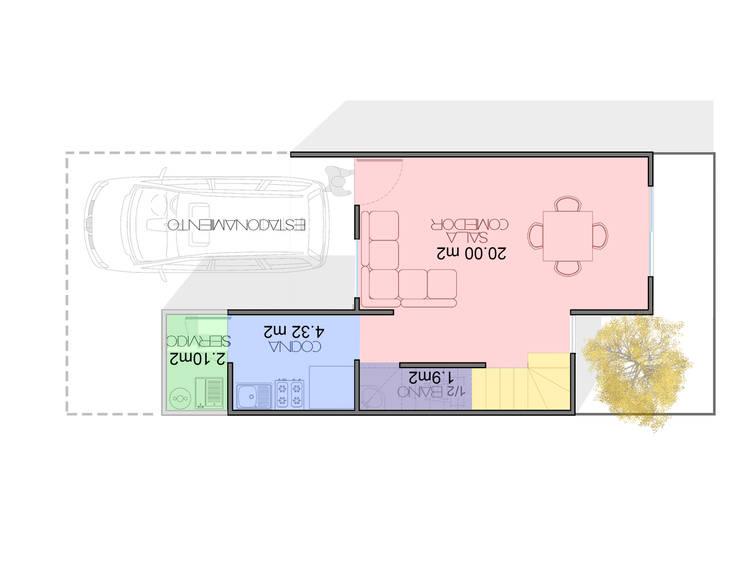 planta baja: Casas de estilo  por Element+1 taller de arquitectura