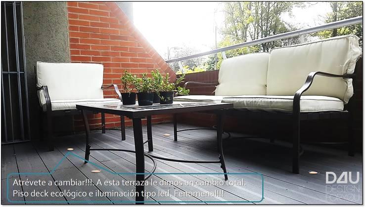 Remodelación de Terraza Apto en Bogotá:  de estilo  por Design For You SAS