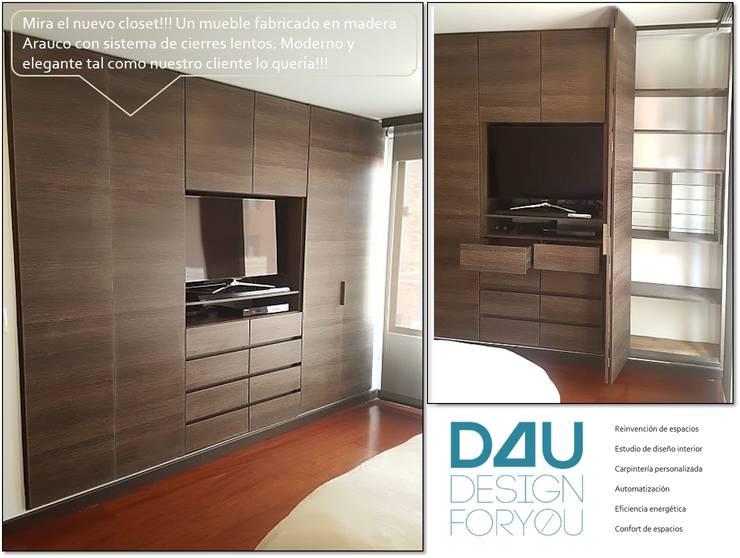 Renovación armario:  de estilo  por Design For You SAS