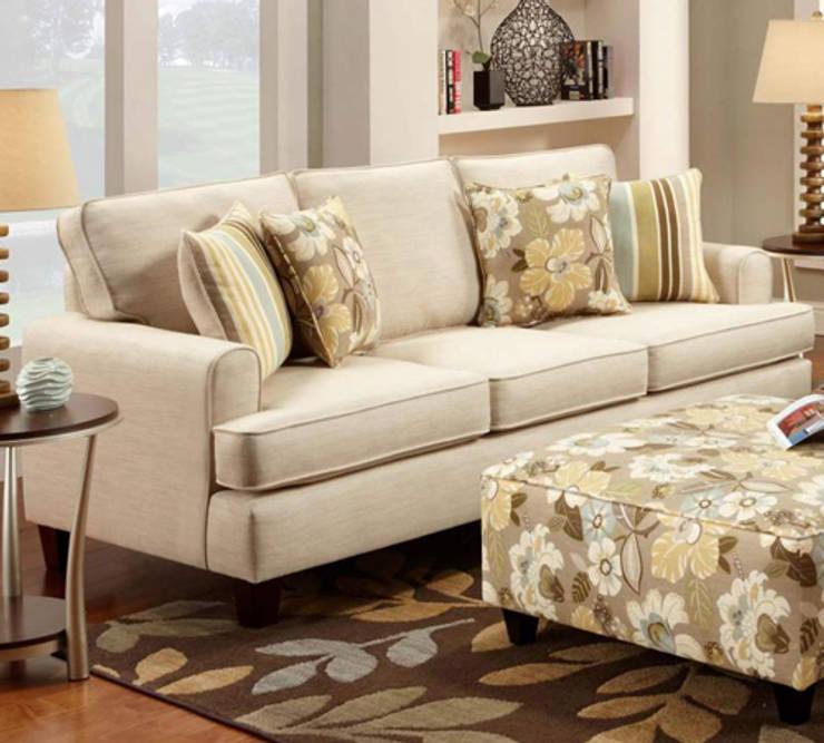 Urban Chik style sofa: asian Living room by Akanksha Designs