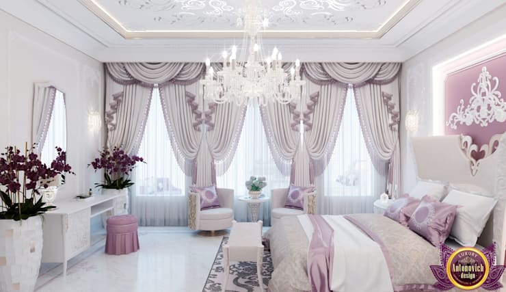 Kids bedroom design of Katrina Antonovich:  Bedroom by Luxury Antonovich Design,