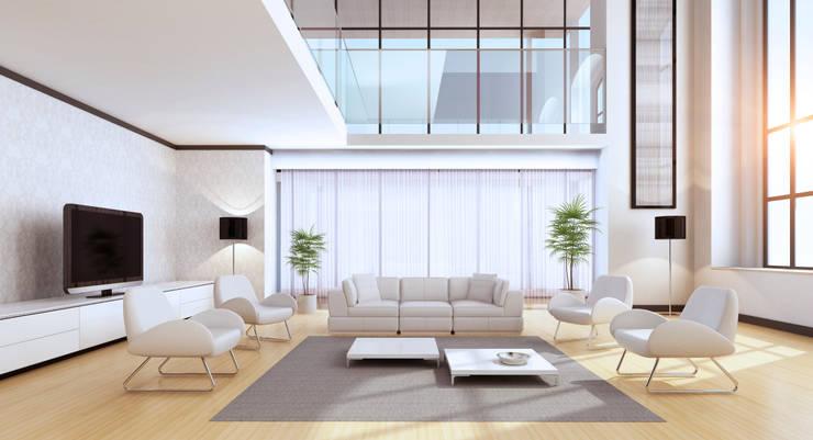 غرفة المعيشة تنفيذ Gracious Luxury Interiors