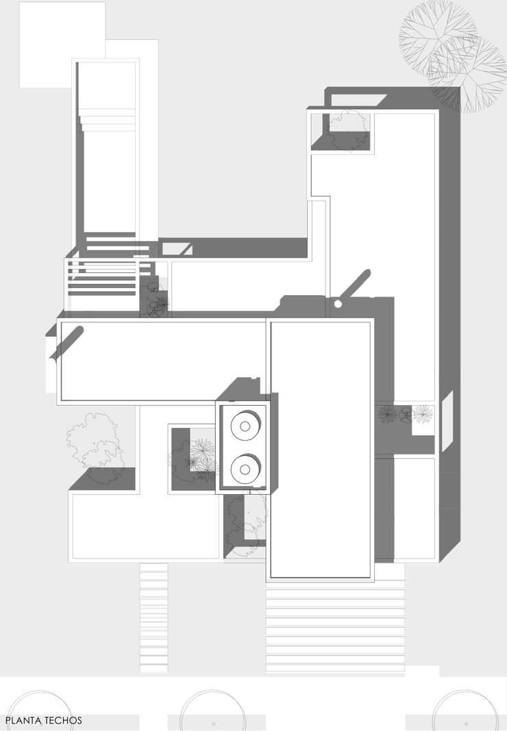 CASA LG:  de estilo  por Poggi Schmit Arquitectura,
