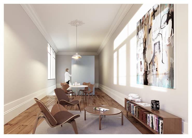 1610H mah: Salas de estar  por Jj Soares arquiteto