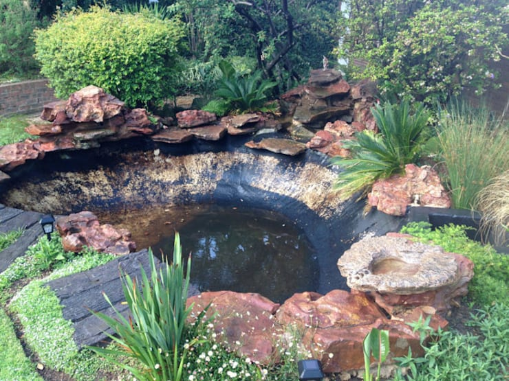 Pond Upgrade – Bryanston - Before:  Garden by Isivande fish ponds
