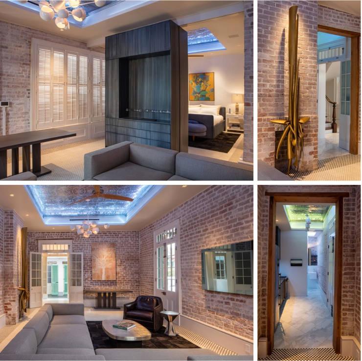 Marigny Residence, New Orleans:  Living room by studioWTA