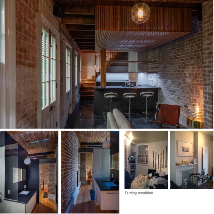 Marigny Residence, New Orleans:  Dining room by studioWTA
