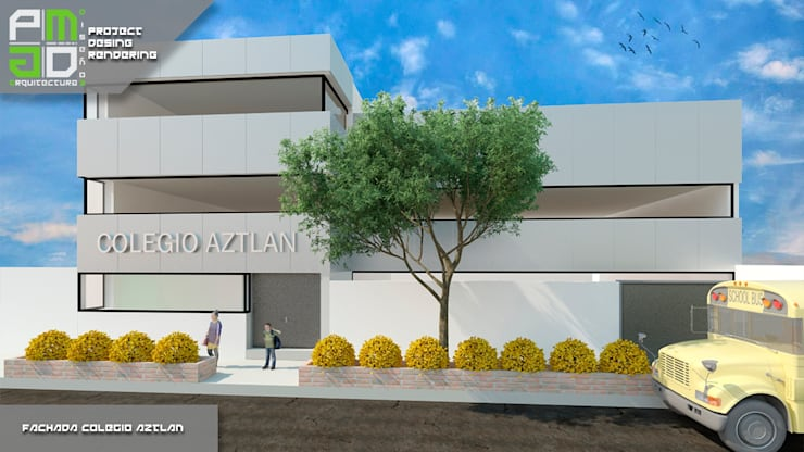 Propuesta Final.: Casas de estilo  por PM ARQUITECTURA Y DISEÑO, S.A. DE C.V.