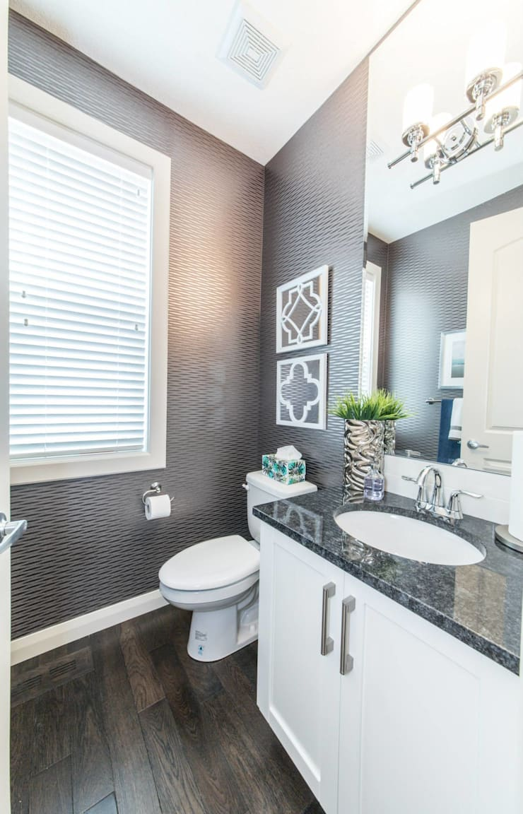 Broadview Showhome: modern Bathroom by Sonata Design