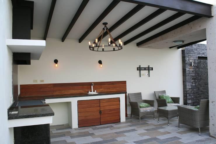 Projekty,  Taras zaprojektowane przez Daniel Teyechea, Arquitectura & Construccion