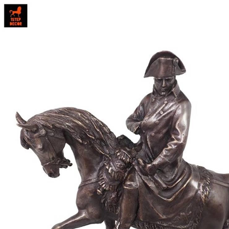 รูปปั้นทองเหลืองนโปเลียน โบนาปาร์ตขี่ม้า(Napoleon riding horse):   by 1STEP DECOR
