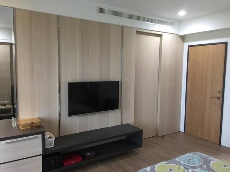 住宅  設計規劃案:  臥室 by 延伸建築 室內設計 EXTENSION DESIGN STUDIO