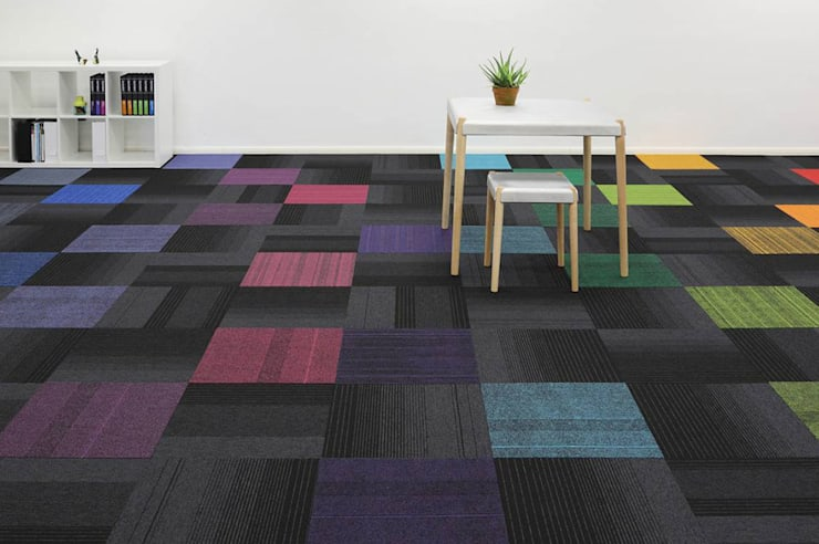 Amazing Design with Carpet Tiles:  Walls & flooring by Industasia