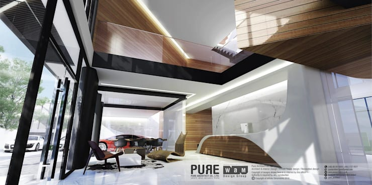 HOME OFFICE TOWN IN TOWN:   by Pure Architect Co., Ltd.