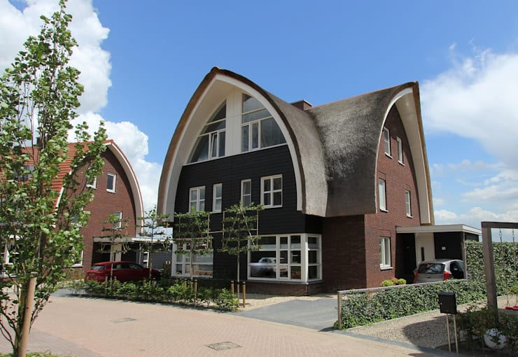 2 onder 1 kap woning :  Huizen door Brand BBA I BBA Architecten