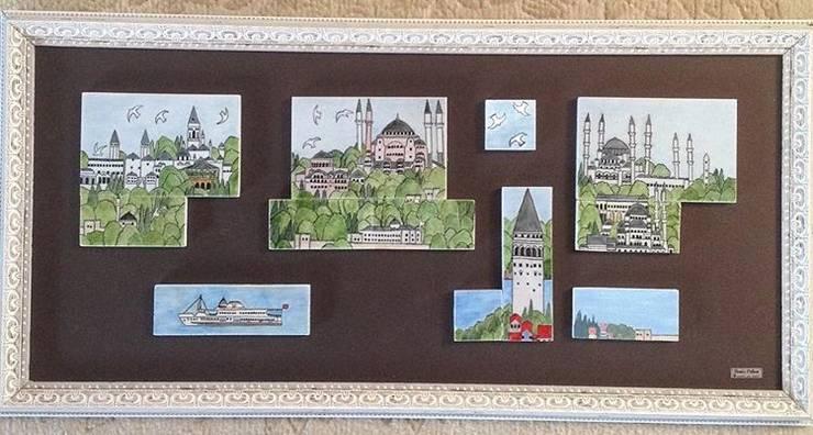 Studioartdeniz – İstanbul tablosu : modern tarz , Modern Seramik