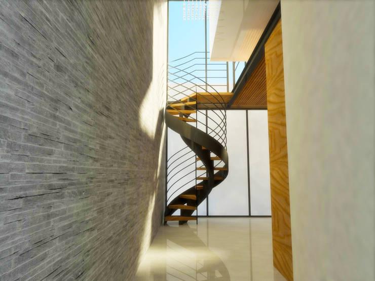 ACCESO A RECAMARA: Pasillos y recibidores de estilo  por DLR ARQUITECTURA/ DLR DISEÑO EN MADERA