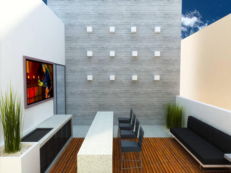 TERRAZA: Terrazas de estilo  por DLR ARQUITECTURA/ DLR DISEÑO EN MADERA